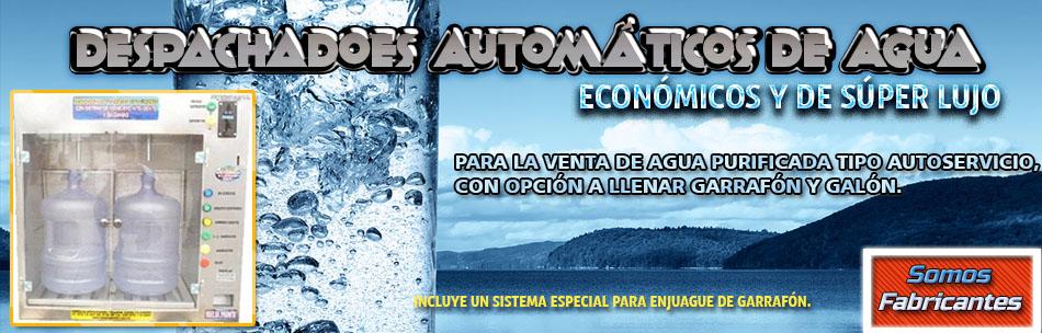 Despachador automático de agua 24 horas