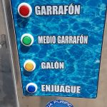 despachador automático de agua botones
