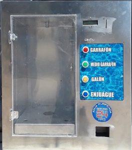 despachador automático de agua da cambio